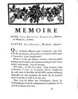 [Factum. Lombard, Jean-Baptiste.1789]