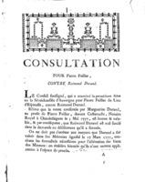 [Factum. Pailler, Pierre. 1777]