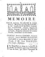 [Factum. Planche, Antoine. 1778]