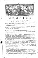 [Factum. Barnier, Jean. 1779]