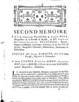 [Factum. Planche, Antoine. 1779]