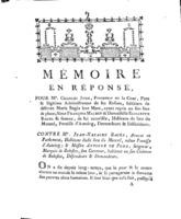 [Factum. Juge, Charles. 1782]