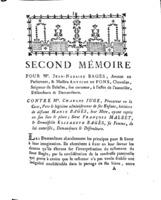 [Factum. Bagès, Jean-Nazaire. 1782]