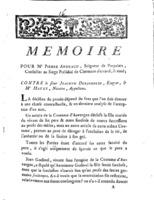 [Factum. Andraud, Pierre. 1785]