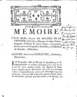 [Factum. De Moléen de La Vernède, Pierre. 1788]