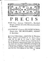 [Factum. Tessot, Antoine. 1787?]