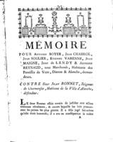 [Factum. Boyer, Antoine.1789]