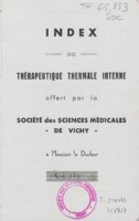 Index de thérapeutique thermale interne