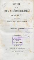 Eaux minérales : Luxeuil-Plombières [recueil factice]