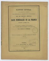 Rapport général à Son Excellence M. le Ministre de l'agriculture, du commerce et des travaux publics sur le service médical des eaux minérales de la France pendant l'année 1854 fait au nom de la commission des eaux minérales, et lu à l'Académie impériale de Médecine le 29 novembre 1856