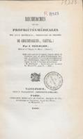 Recherches sur les propriétés médicales des eaux minérales, thermales et froides de Chaudesaigues, (Cantal)