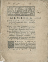 [Factum. Lombelon, Louis-Ginbert de. 1769]