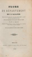 Flore du département de l'Allier : description des plantes qui y croissent spontanément, classées suivant la méthode naturelle