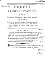 [Factum. Chautard, Guillaume. An 4?]