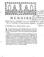 [Factum. Force, Benoit. 1790]