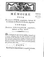 [Factum. Itier, François. An 5?]
