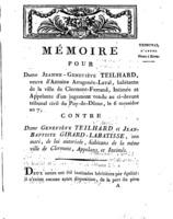 [Factum. Teilhard, Jeanne-Geneviève. An 7?]