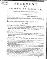 [Jugement du tribunal de cassation. François, Jean-Baptiste. An 9?]