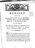[Factum. Touzet, Pierre. An 9?]