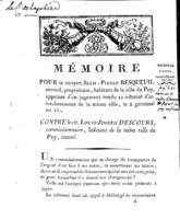 [Factum. Besqueuil, Jean-Pierre. An 2?]