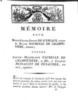 [Factum. Scepeaux,  Marie-Louise-Joseph de. An 10]
