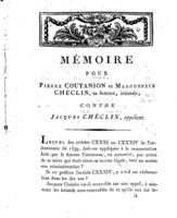 [Factum. Coutanson, Pierre. 1802]