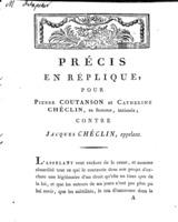 [Factum. Coutanson, Pierre. An 10]