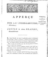 [Factum. Judde-Larivière. An 11?]