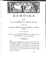 [Factum. Leige, Robert de. An 11?]