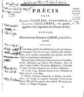 [Factum. Coiffier, Julien. 1806]