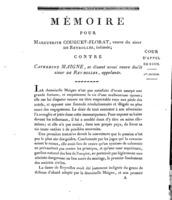 [Factum. Couguet-Florat, Marguerite. An 4?]