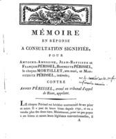 [Factum.  Périssel,  Antoine-Ambroise. An 10?]