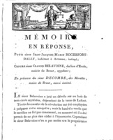 [Factum.  Rochefort-Dally, Jean-Jacques-Marie. 1809?]