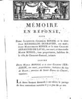 [Factum. Boniol, Jacquette-Gilberte. 1810?]