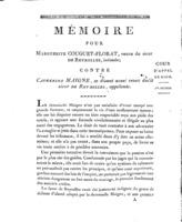 [Factum. Couguet-Florat, Marguerite. An 14?]