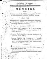 [Factum. Baratier, Gilbert-Louis. An 8?]