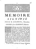 [Factum. Chabrol. 1774]