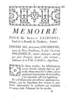 [Factum. Faidides, Benoît. 1774]
