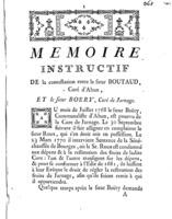 [Factum. Boutaud. 1773]