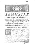 [Factum. Roquemaurel, Jean de. 1773]