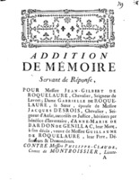 [Factum. Roquelaure, Jean-Gilbert. 1774]