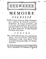 [Factum. Faugeres, Robert. 1772]