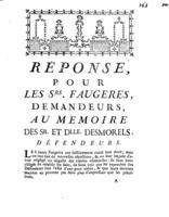 [Factum. Faugeres. 1772]