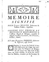 [Factum. Beaume, Pierre. 1774]