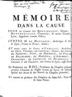 [Factum. Monjouvent. 1777]