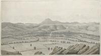 Vue generale des monts Dome et de Clermont-ferrand [légende manuscrite]
