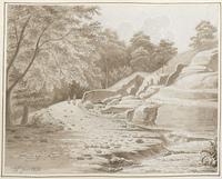 Vallée de Villars - Voie romaine en ruine [légende manuscrite]