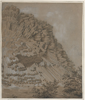 Produit volcanique à St Sandoux – a quelques lieux de Clermont [légende manuscrite]